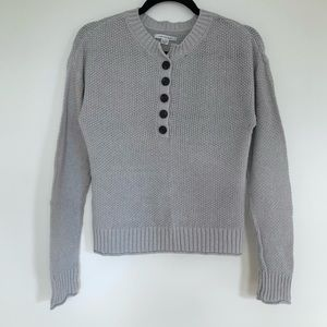 AMERICAN EAGLE Slouchy Lightweight Henley Sweater